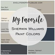 Sherwin Williams Color Chart 2018 My Favorite Sherwin Williams Paint Colors Evolution Of Style