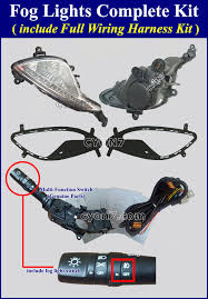 """2013 2014 2015 hyundai genesis coupe fog light lamp complete kit notice if you want trim cover """" out parking sensor holes"""" please let me know when you pay on paypal note"""