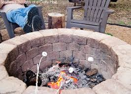 how to build a diy fire pit tered