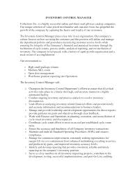 Inventory Control Resume Sample Inventory Control Manager Resume Savebtsaco 22