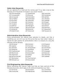 Keywords For Resumes Custom Business Resume Keywords Canreklonecco