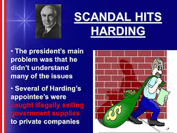 「president Harding hit by scandales」の画像検索結果