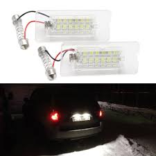 Bmw X5 License Plate Light Replacement Us 10 0 2x White Smd3528 Led Number License Plate Light Lamp For Bmw X5 E53 X3 E83 Accessories Canbus Tail License Bulb Kit In Signal Lamp From