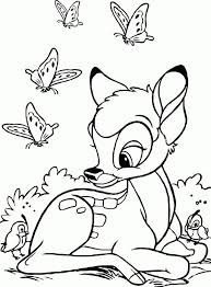 Bambi is an animated film, depicting the story of a young deer, left alone to learn the tricks of survival in the unforgiving forest after losing his mother. Bambi Coloring Pages For Kids Free Coloring Sheets Deer Coloring Pages Disney Coloring Pages Cartoon Coloring Pages