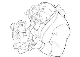 Beauty And The Beast Colouring Pages Pdf New Free Coloring With