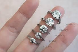 Actual Diamond Carat Size On A Hand In 2019 Diamond Sizes