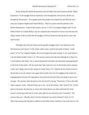 claude mckay poetry analysis siarra fannin essay question  2 pages harlem renaissance poetry analysis claude mckay langston hughes