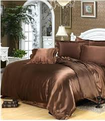 luxury silk bedding sets deep brown satin super king size queen full doona quilt duvet cover