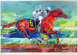 reion of leroy neiman funny cide on canvas or frame is available handmade leroy neiman funny cide painting is at a of off