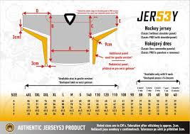 Ice Hockey Jersey Size Chart Academy Deluxe Training Jersey