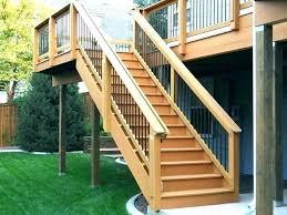 outdoor stair stringers wooden outdoor