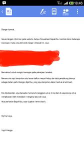 Membuat Surat Lamaran Kerja Lewat Android Inteku