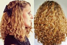 thick blonde naturally curly hairstyle