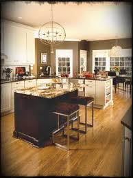 Off White Kitchen Cabinets With Grey Walls Gray Dark Floors Black