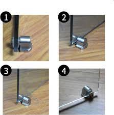 for glass doors door stop casting