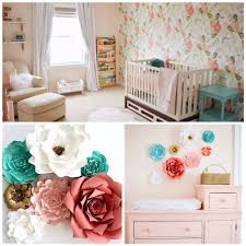 flower wall art for nursery