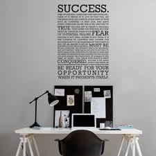Small Picture The definition of success Wall Sticker Office walls Wall