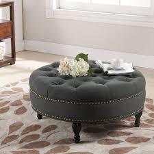 bedroom upholstered ottoman coffee table large tufted ottoman upholstered coffee table large round ottoman modern