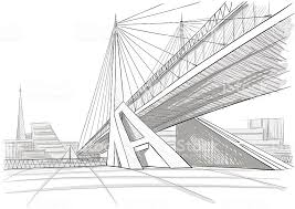 architectural drawing of a bridge royaltyfree architectural stock vector art drawings bridges u79 bridges
