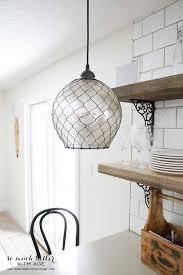 mercury glass pendant light somuchbetterwithage com