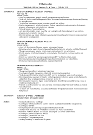 Security Resume Sample Leadinformation Security Resume Samples Velvet Jobs 58