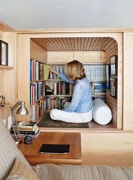 tiny apartment furniture. Tiny Apartment In Manhattan Featuring Custom Made Furniture : Small Wood Works Book Cabinet