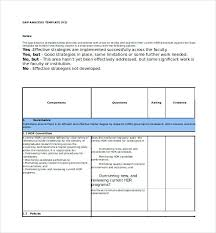 Coursework Gap Analysis Template Excel Format It Software ...
