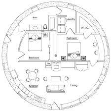 Round House Plans Bunker   Free Online Image House Plans    Bedroom Earthbag House Plans on round house plans bunker