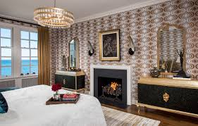 Louis Vuitton Wallpaper For Bedroom A Classic Modern Home In Chicago