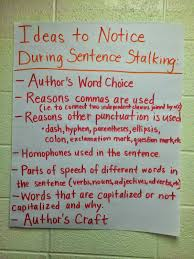 Mentor Sentence Anchor Chart Mentor Sentences Anchor Chart To Give Students Ideas On