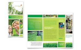 microsoft office catalog templates lawn mowing service brochure template word publisher