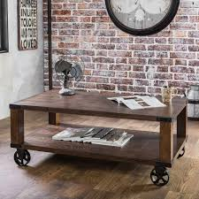 Iron Gate Coffee Table Tables With Wheels Rustic Brown Coffee Table On Wheels Homestead