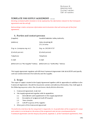Supply Contract Templates Loan Agreement Template For Supply Sample Business Contract Pdf 1
