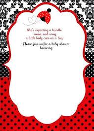 Ladybug Invitations Template Free Free Printable Ladybug Baby Shower Invitations Templates In