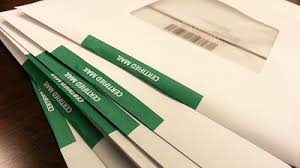 Certified mail envelopes 2 small