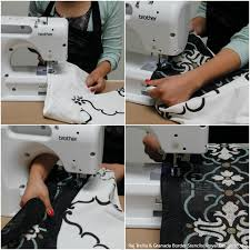 how to stencil tutorial diy curtains with burlap border fabric stencils from royal design