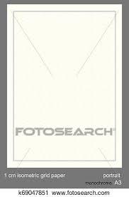 1 Cm A3 Isometric Grid Paper Isometric Grid Vector Isometric