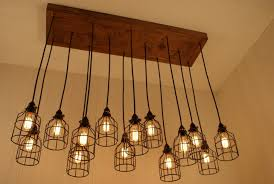 diy edison light bulb chandelier