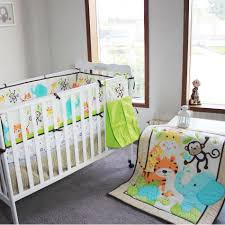 year baby bedding set elephants monkeys tigers crib pers include quilt skirt per fitted bag boys