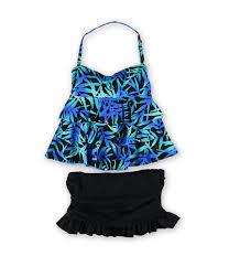 Island Escape Swimwear Size Chart Island Escape Womens Tahiti Ruffled 2 Piece Bandeau
