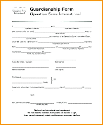 Notarized Letter Of Guardianship Guardian Letter Template Example Of Guardianship Form