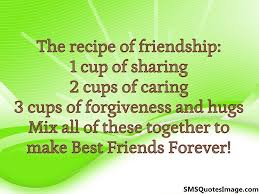 Image result for Friendship recipe