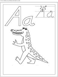 Coloriage Ecriture 1 Lettre A Comme Alligator Gratuit Colorier