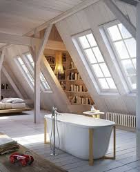 Bathroom: Vintage Loft Bathroom Ideas - Attic Bathrooms