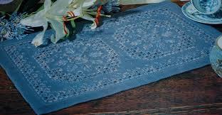 Caron Watercolours Chart Caron Thread Hardanger Table Dresser Runner Embroidery Pattern