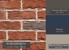 exterior paint colors to match brown roof. triangle brick portsmouth and vinly   trim: useful gray sw7050. exterior house colorsexterior paint colors to match brown roof
