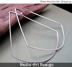 chandelier shaped hoop earrings geometric 3 inch hoops