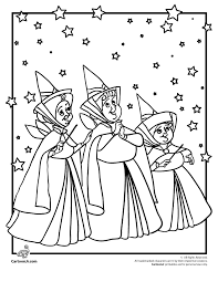 Small Picture Sleeping Beauty Coloring Pages Online