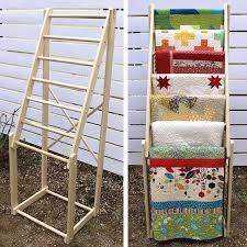 Free standing, tall quilt rack, made of hard wood (poplar) with ... & Free standing, tall quilt rack, made of hard wood (poplar) with seven Adamdwight.com