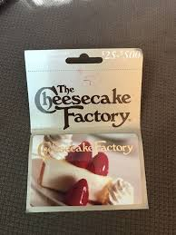 50 cheesecake factory gift card full value cheesecake factory gift card gift cards